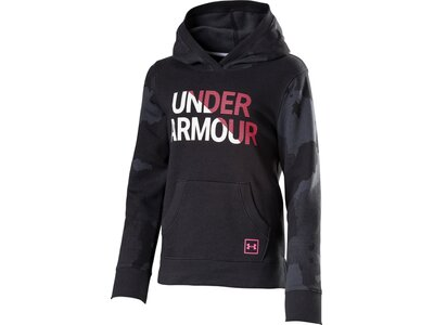 UNDER ARMOUR Kinder Shirt RIVAL HOODY Schwarz