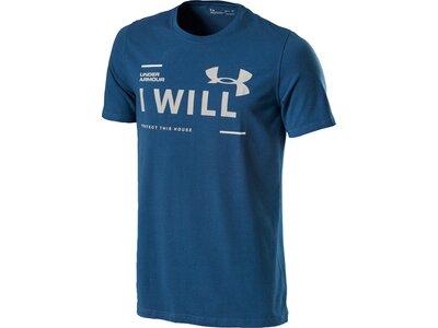 UNDER ARMOUR Herren Shirt UA I Will SS Blau