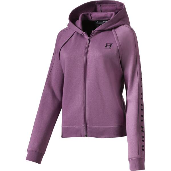 UNDER ARMOUR Damen Kapuzensweat RIVAL | Sportbekleidung > Sportwesten > Steppwesten | Purple - Black | Under Armour