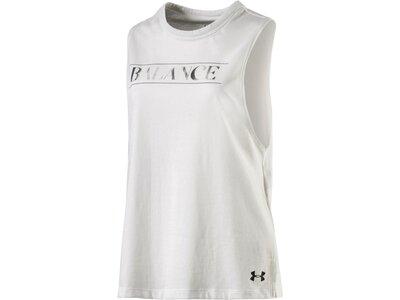 UNDER ARMOUR Damen Shirt BALANCE GRAPHIC MUSCLE Weiß