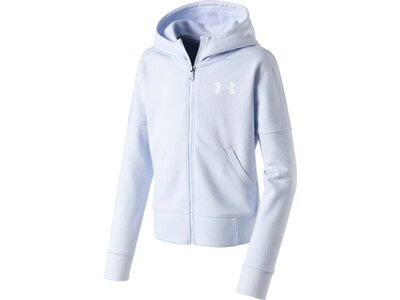 UNDER ARMOUR Kinder Jacke RIVAL FULL ZIP Blau