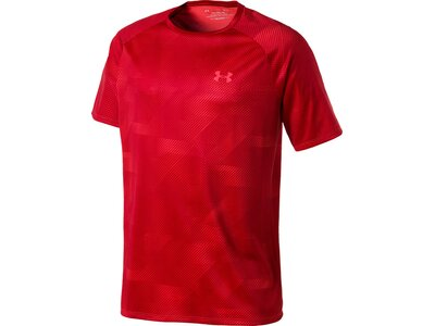 "UNDERARMOUR Herren Trainingsshirt ""Tech Printed"" Kurzarm Rot"