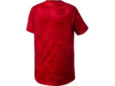 """UNDERARMOUR Herren Trainingsshirt """"Tech Printed"""" Kurzarm Rot"""