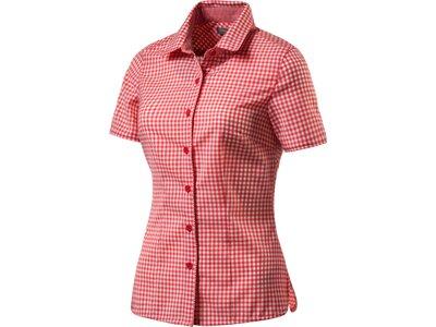 ICEBREAKER Merino Damen Bluse Destiny Check Rot