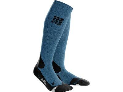 CEP Damen pro+ outdoor merino socks Blau
