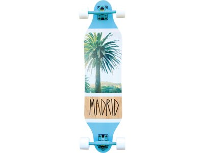 MADRID Longboard Palm Blau