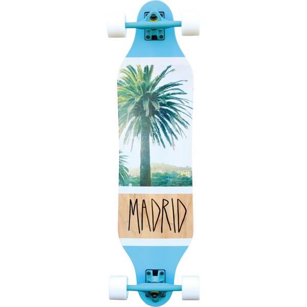 MADRID Longboard Palm Blau