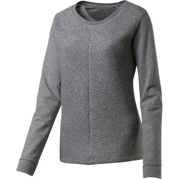ESPRIT SPORTS Damen Sweatshirt Sweatshirts Grau