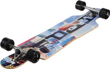 P.A.C Skateboard SMU LONGBOARD DROP THROUGH SAN FRAN