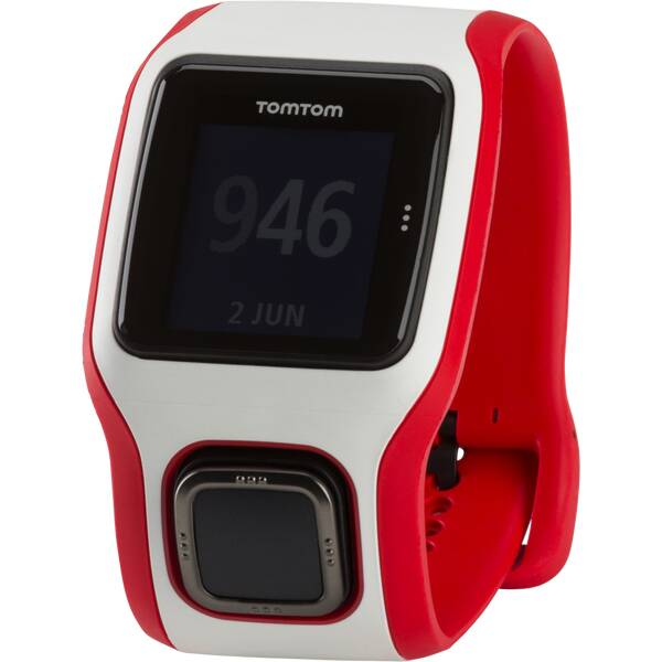 TOMTOM GPS Laufuhr RUNNER CARDIO (WEISS/ROT)