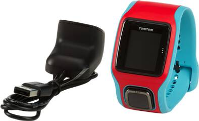 TOMTOM GPS Laufuhr RUNNER CARDIO (TÜRKIS/ROT)