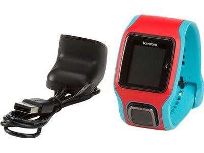 TOMTOM GPS Laufuhr RUNNER CARDIO (TÜRKIS/ROT) Blau