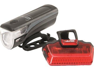 CON-TEC Fahrrad-Beleuchtungsset Speed-LED USB Grau
