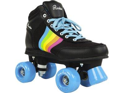 ROOKIE Damen Rollerskates Forever Rainbow Schwarz