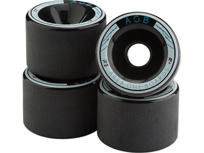 AOB Skateboard WHEEL BLACK - 78A Schwarz
