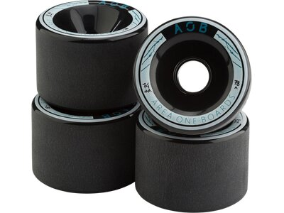 AOB Skateboard WHEEL BLACK - 83A Schwarz