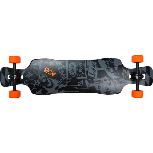 AOB Skateboard Longboard Black Shot