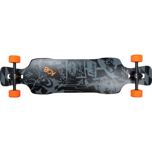 AOB Skateboard Longboard Black Shot
