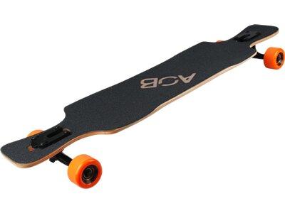 AOB Skateboard Longboard Black Shot Schwarz