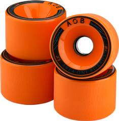 AOB Skateboard WHEEL ORANGE - 83A