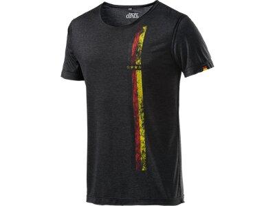 DIRTS Herren Fanshirt T-Shirt Streifen Grau