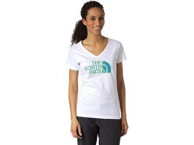 THE NORTH FACE Damen Shirt D-T-Shirt SS Vneck Tee W Weiß