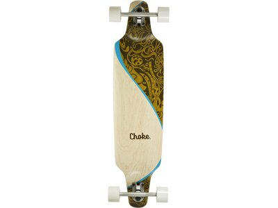 CHOKE SKATEBOARDS Longboard SWING 38x9,25 Braun