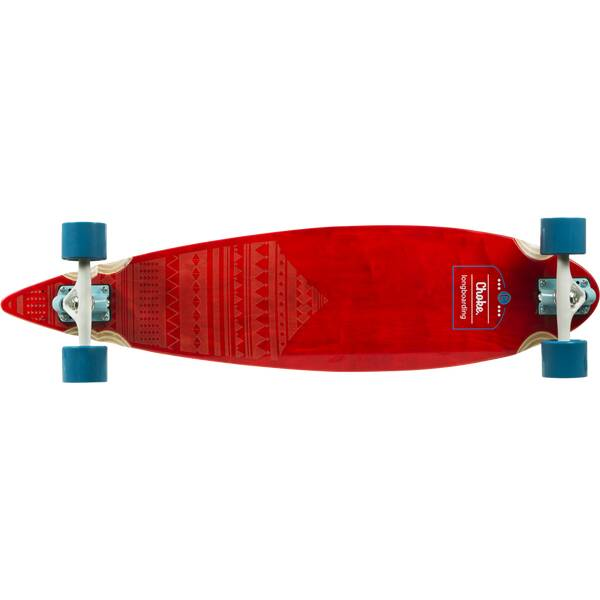 CHOKE SKATEBOARDS Longboard LB Pattern Pro Pintail 36,6x9
