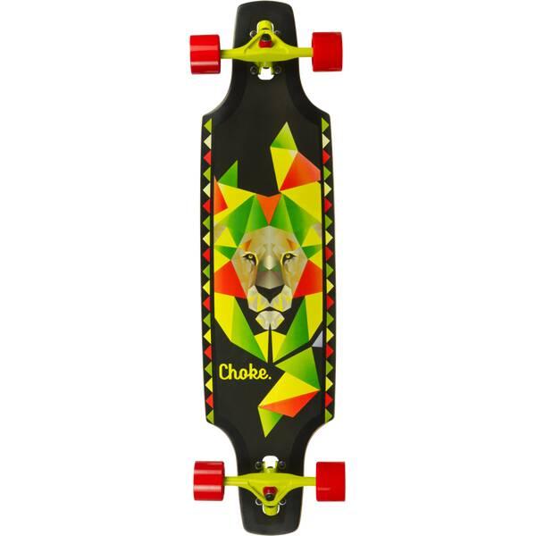 CHOKE SKATEBOARDS Longboard LB Lion Dropthrough Trick 37,5x9,5