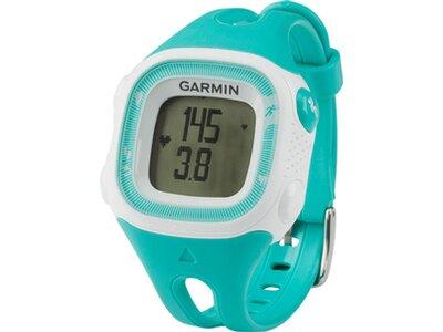 GARMIN Laufuhr Forerunner 15 Türkis / Weiß (Standard) mit Herzfrequenz-Brustgurt Blau
