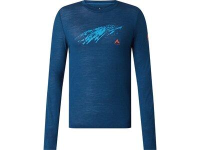 McKINLEY Herren Shirt Herren Langarmshirt Hicks Blau