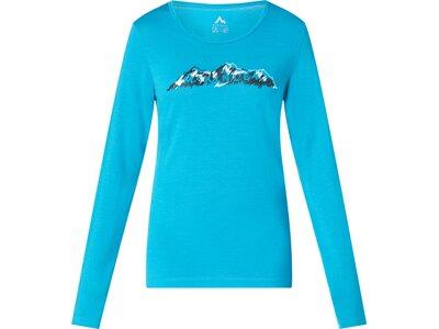 McKINLEY Damen Shirt Damen Langarmshirt Hicks Blau