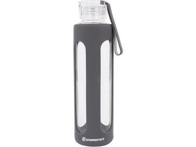 ENERGETICS Trinkflasche Glass Bottle 0.55L Schwarz