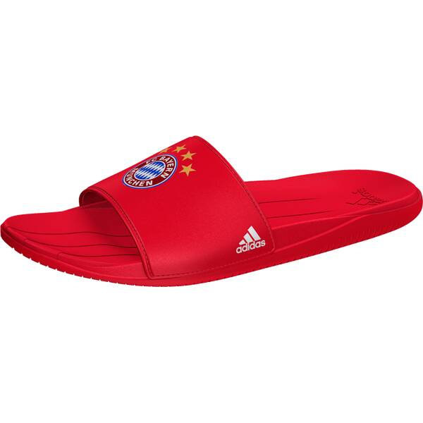 ADIDAS Herren Badeschuhe FC Bayern München Fußball-Slipper Rot