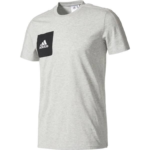 ADIDAS Herren Fanshirt TIRO17 TEE | Sportbekleidung > Sportshirts > Fanshirts | Black - White | Adidas