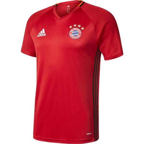 ADIDAS Herren Trikot FC Bayern München Trainingstrikot Rot