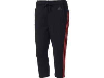 ADIDAS Damen Trainingshose / Fitnesshose Essentials 3 Stripes 3/4 Pant Grau