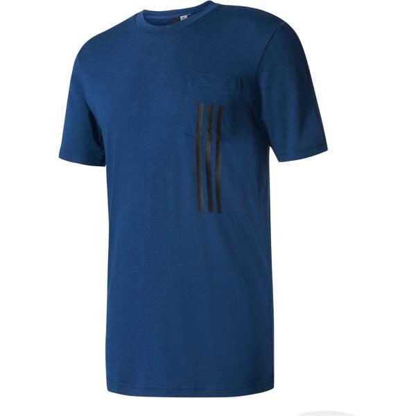 ADIDAS Herren T-Shirt ID 3-Stripes Pocket