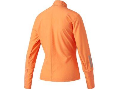 "ADIDAS Damen Laufjacke / Trainingsjacke ""Response Wind Jacket"" Braun"