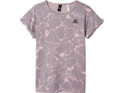 ADIDAS Girls T-Shirt Printed Performance Logo Grau