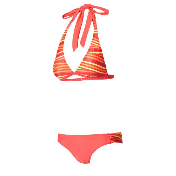 Bademode - ADIDAS Damen Bikini Allover Print Bikini › Rot  - Onlineshop Intersport