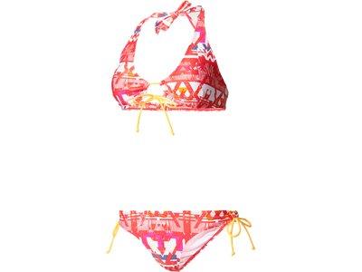 ADIDAS Damen Bikini Allover Print Neckholder-Bikini Grau