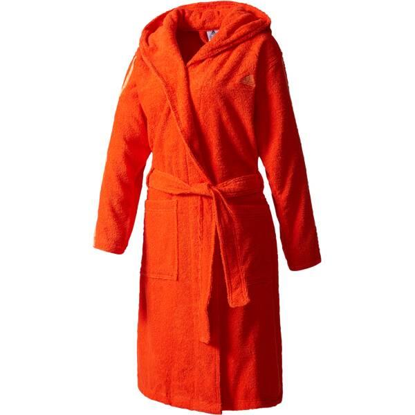 ADIDAS Damen Bademantel 3-Stripes Rot