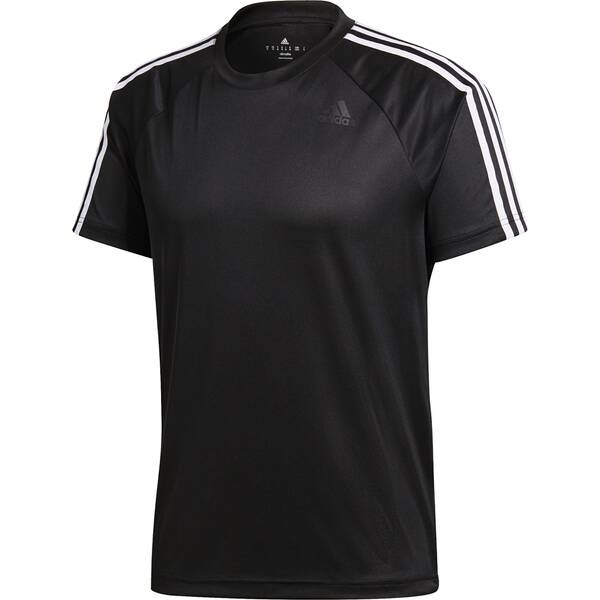 ADIDAS Herren Shirt D2M 3S Schwarz