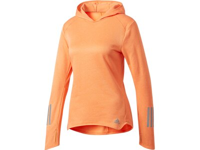 ADIDAS Damen Sweatshirt / Hoodie Response Hoodie Braun