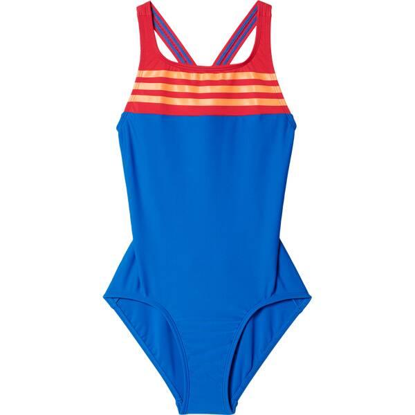 ADIDAS Kinder Badeanzug BY 3-Streifen Colorblock Badeanzug Blau