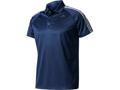 ADIDAS Herren Poloshirt D2M 3S Blau
