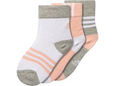 ADIDAS Kinder Socken Crew, 3 Paar Pink