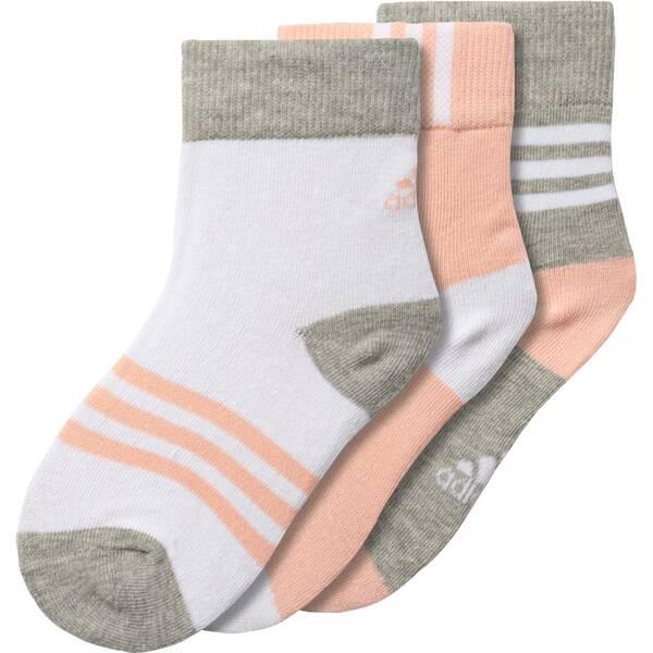 ADIDAS Kinder Socken Crew, 3 Paar
