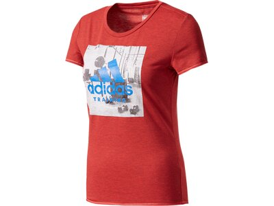 ADIDAS Damen Shirt Training Tee Rot